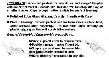 clip frames framing system